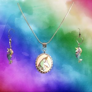 Unicorn jewelry set